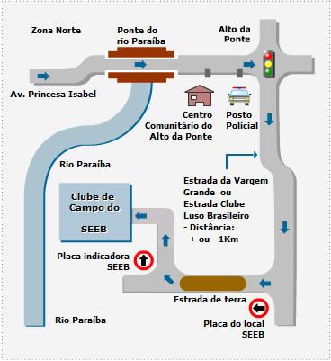 Localização Clube de Campo SEEB