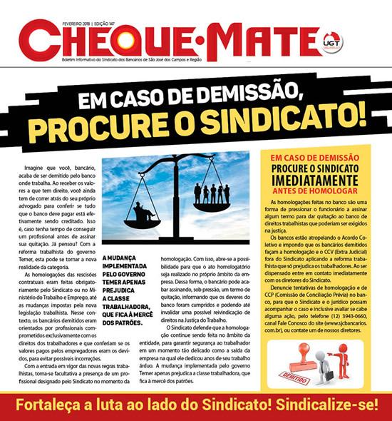 Jornal Cheque Mate Fevereiro 2018
