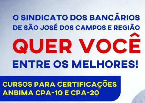 Curso para Certificação Anbima CPA10, 20 e CEA em São José dos Campos
