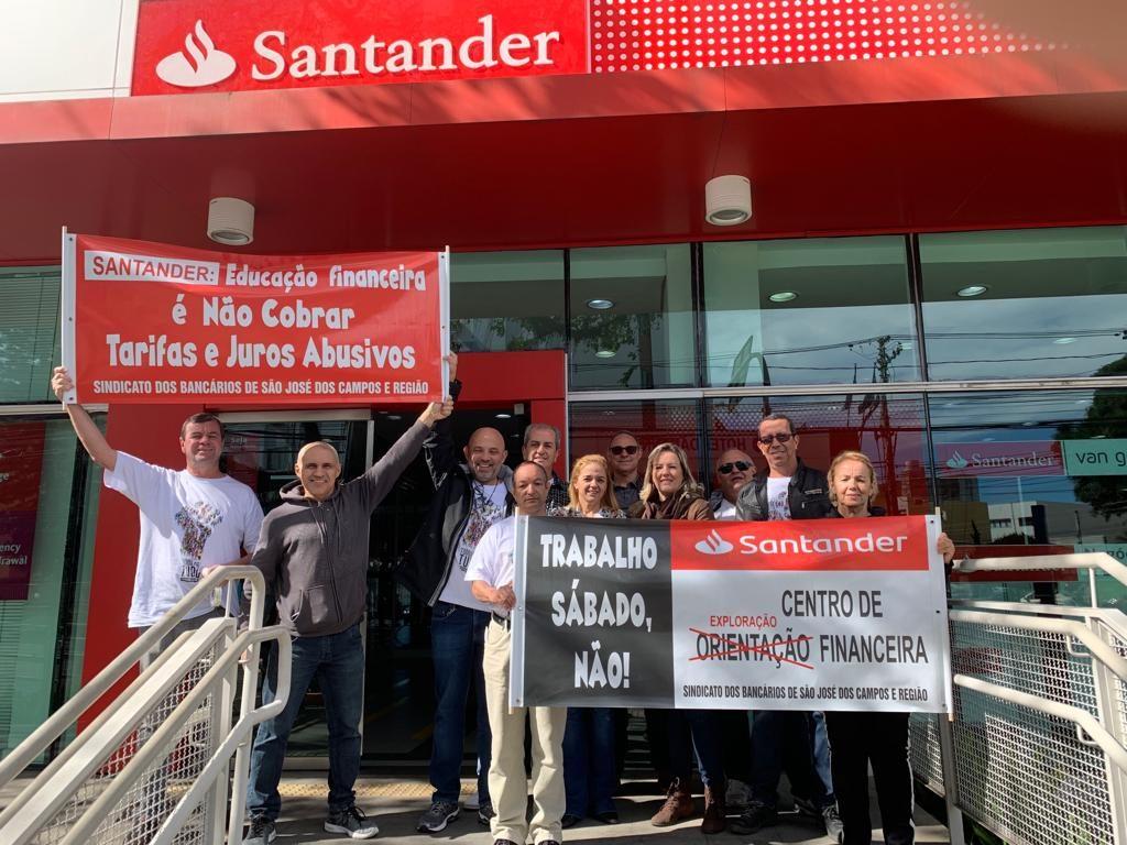Mobilização faz Santander recuar abertura aos sábados
