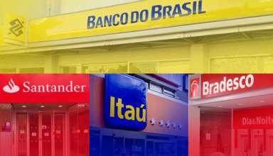 Lucro dos 4 maiores bancos sobe 21,3% no 2º trimestre e atinge R$ 20,5 bi
